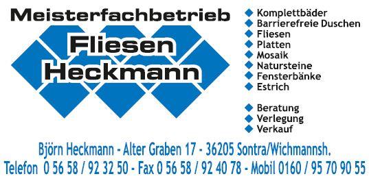 Fliesen Heckmann Wichmannshausen